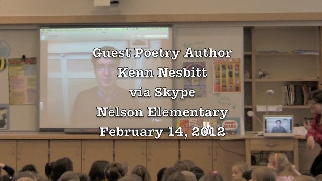 Ever since I first saw a teacher librarian Skype Kenn Nesbitt, I've shared about it.